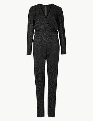 Marks and Spencer Animal Print Long Sleeve Jumpsuit