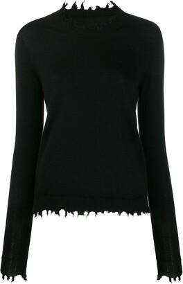 UMA WANG raw edge knit sweater