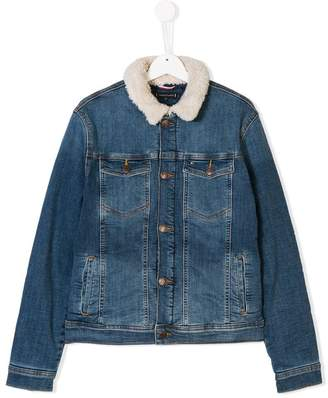 Tommy Hilfiger Junior TEEN shearling collar denim jacket