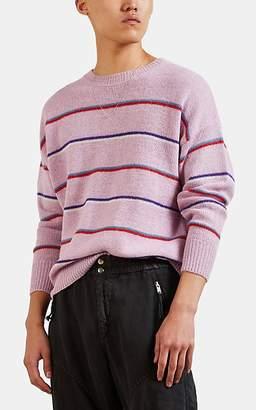 Isabel Marant Men's Obli Striped Alpaca-Blend Sweater - Pink