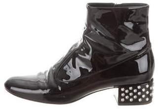 Saint Laurent Embellished Patent Leather Boots