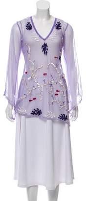 Letarte Long Sleeve Embellished Top