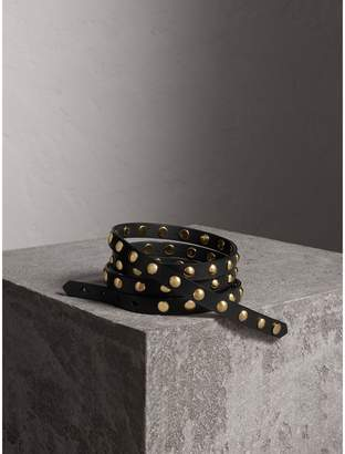 Burberry Studded Bridle Leather Double-wrap Belt