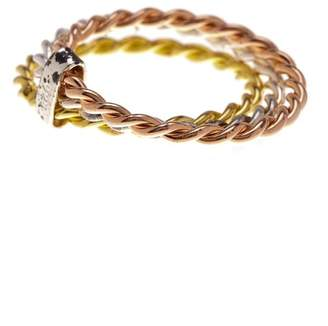 Sterling Forever Tri-Color Twist Ring