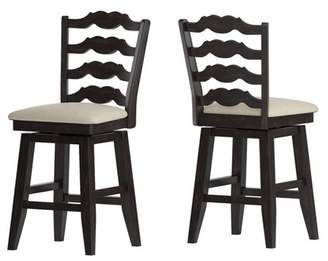 """Inspire Q 24"""" South Hill French Ladder Back Swivel Counter Height Chair"""
