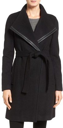 Calvin Klein Wool Blend Wrap Trench $348 thestylecure.com