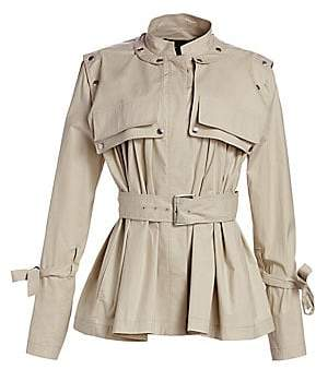 Proenza Schouler Women's Belted Cropped Trench Jacket