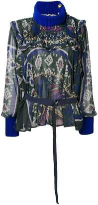 Sacai loose flared blouse