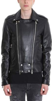 Balmain Black Leather Jacket