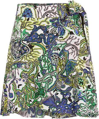 A.L.C. Hampton Ruffled Cotton & Silk Skirt