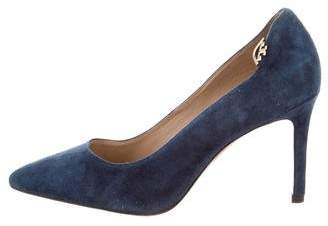 Tory Burch Pointed-Toe Suede Pumps