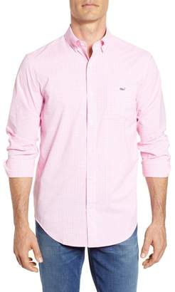 Vineyard Vines Grand Cay Tucker Regular Fit Gingham Performance Sport Shirt