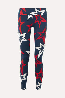 Perfect Moment Starlight Printed Stretch Leggings - Navy