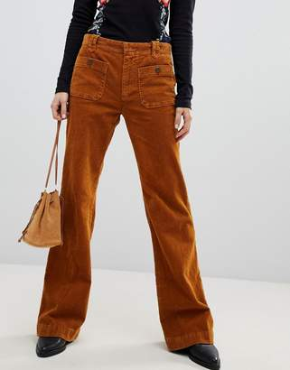 Free People Hip Hugging cord flared trousers