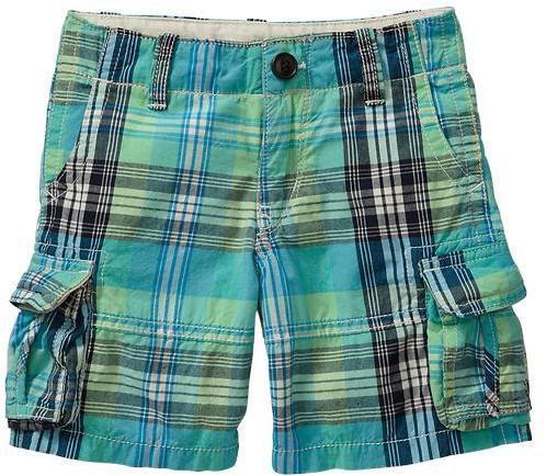 Gap Bright plaid cargo shorts