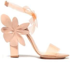 DELPOZO Floral-Appliquéd Pvc And Patent-Leather Sandals