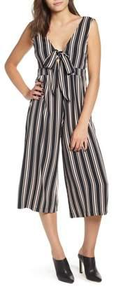 Leith Tie Front Crop Jumpsuit