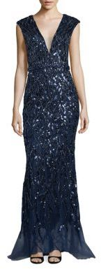Jovani Sequined Tulle Gown $790 thestylecure.com