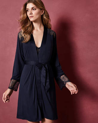 a2f872ad11 Ted Baker SHEMISA Lace detail jersey robe