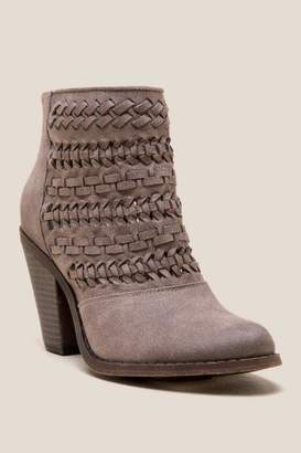 Fergalicious Wanderer Distressed Woven Ankle Boot - Taupe