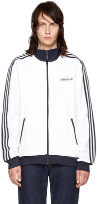 adidas Originals White Beckenbauer Track Jacket $75 thestylecure.com