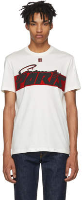 Givenchy White Motocross Print T-Shirt