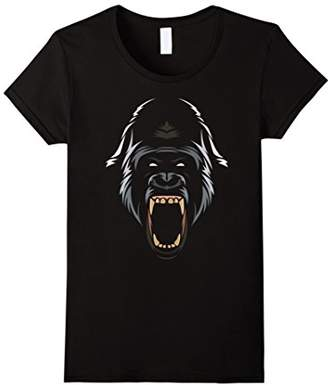 Tribal Gorilla T-Shirt attack in the jungle shirt