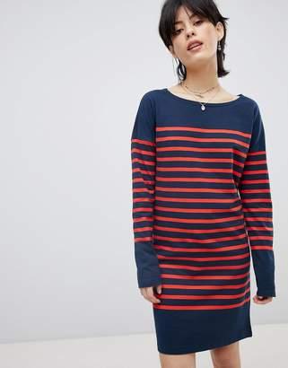 Maison Scotch Breton Stripe Sweat Dress