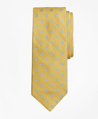 Brooks Brothers Textured Framed Flower Tie
