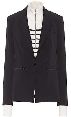 Veronica Beard Scuba blazer with detachable dickey