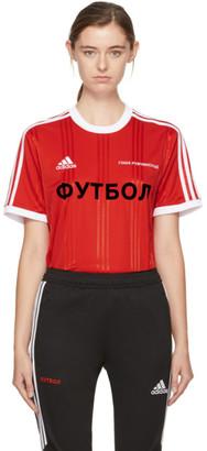 Gosha Rubchinskiy Red adidas Originals Edition T-Shirt $155 thestylecure.com