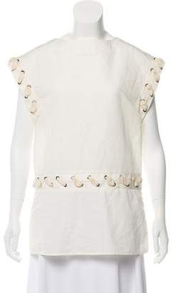 J.W.Anderson Lace Short Sleeve Top