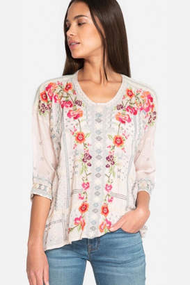 Johnny Was Carnation Blouse Pink