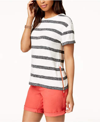 Tommy Hilfiger Striped Side-Zip Top, Created for Macy's