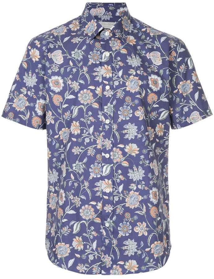 Gieves & Hawkes floral print shirt