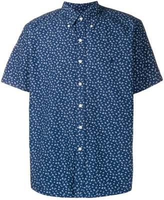 3e7fbb5b6e2f Blue Mens Short Sleeve Collar Floral Shirt - ShopStyle UK