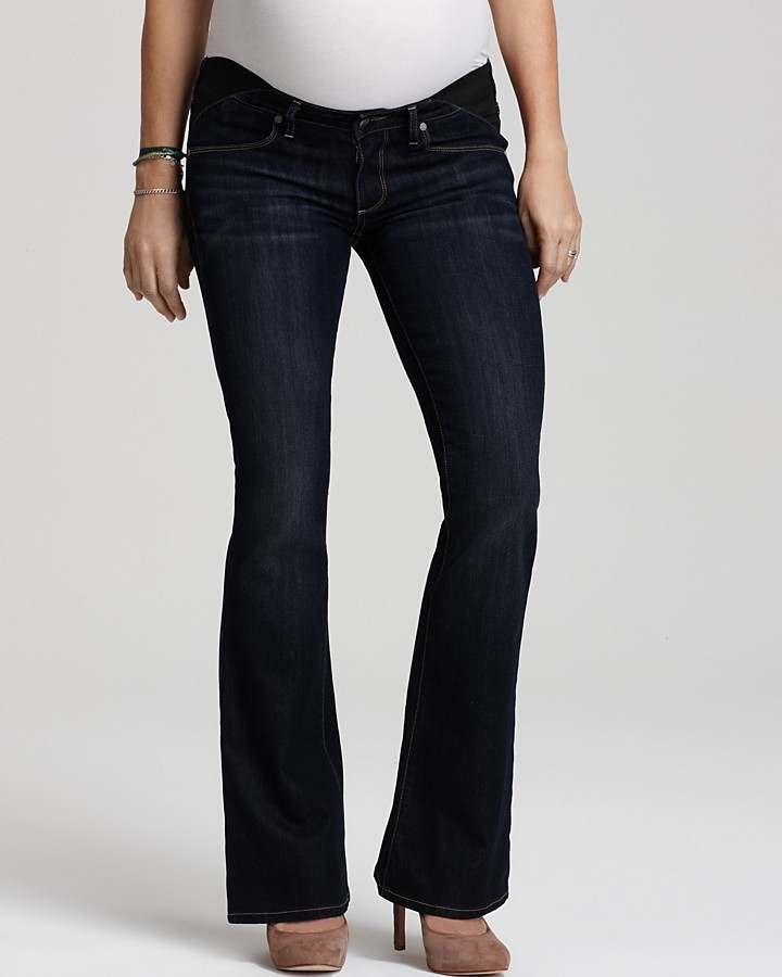 Laurèl Paige Maternity Petite Union Canyon Bootcut Jeans in McKinley Wash