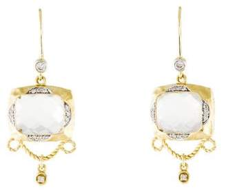 Meira T 14K Chalcedony & Diamond Drop Earrings
