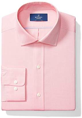 Buttoned Down Men's Classic Fit Spread Collar Solid Non-Iron Dress Shirt (No Pocket)