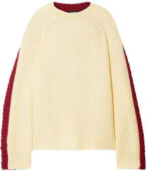 Calvin Klein Oversized Two-tone Wool And Mohair-blend Sweater