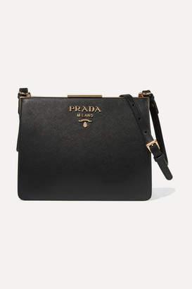 Prada Frame Textured-leather Shoulder Bag - Black