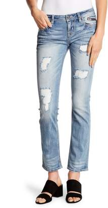 Miss Me Distressed Cropped Straight Leg Jeans
