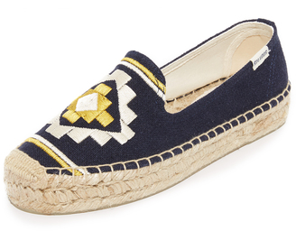 Soludos Embroidered Platform Smoking Slippers $75 thestylecure.com
