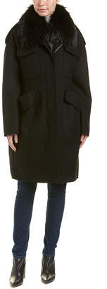 Moncler Philliera Wool & Cashmere-Blend Coat