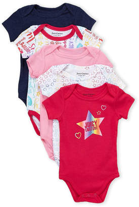 Juicy Couture Newborn Girls) 5-Pack Assorted Bodysuits