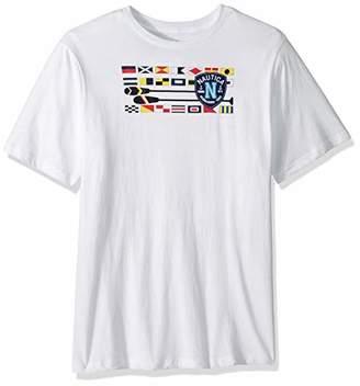 Nautica Men's Big Tall Short Sleeve Flags & Oars Crewneck T-Shirt