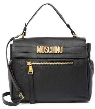 Moschino Large Leather Satchel