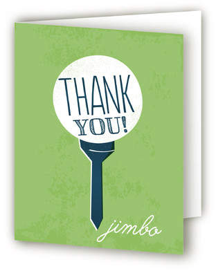 Going Golfing Retirement Party Thank You Cards