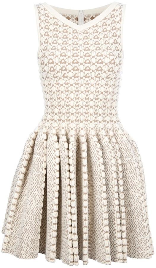 Alaia bobble knit sleeveless dress