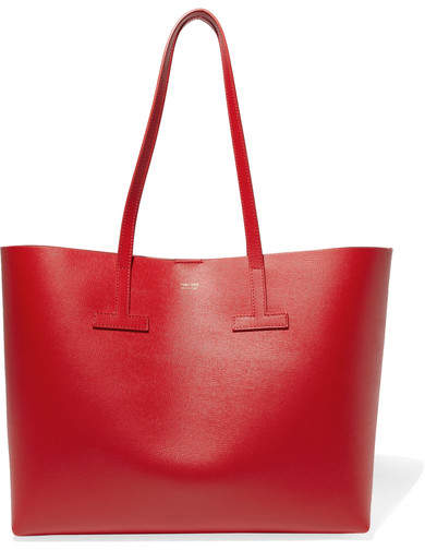 TOM FORD - T Small Textured-leather Tote